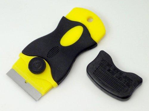 【シールはがし】【ステッカー剥がし】3D型スクレッパー【こびりついた油汚れも削り取る】フロントガラスの車検証やステッカーをはがす