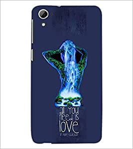 PrintDhaba Quote D-3058 Back Case Cover for HTC DESIRE 826 (Multi-Coloured)