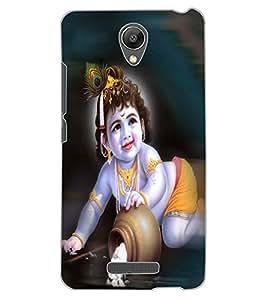 ColourCraft Lord Krishna Design Back Case Cover for XIAOMI REDMI NOTE 2