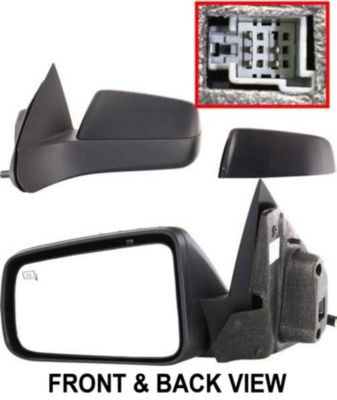 Kool Vue FD110EL Mirror Corner mount Type Driver Side LH Plastic Primered Power With cap(s) Heated (Driver Side Mirror Cap compare prices)