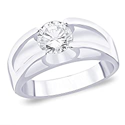 Taraash 925 Sterling Silver Ring For Men Silver-FR0728S9