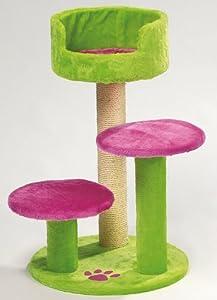 van riel arbre chats retro disco vert et rose 48 x. Black Bedroom Furniture Sets. Home Design Ideas