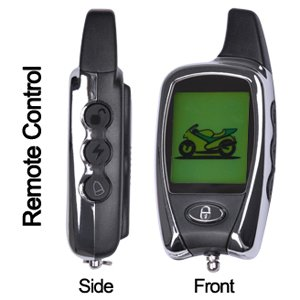2-Way Lcd Pager Motorcycle Bike Remote Engine Starter Security Alarm Control Kit front-393993