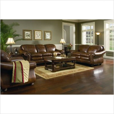 Hanover 4 Piece Leather Living Room Set Leather: Tuscany Tower
