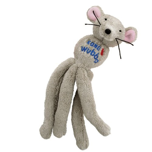 KONG Cat Wubba Mouse, Cat Toy (Colors Vary)