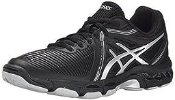 ASICS Women\'s Gel Netburner Ballistic Volleyball Shoe, Black/Silver, 10 M US