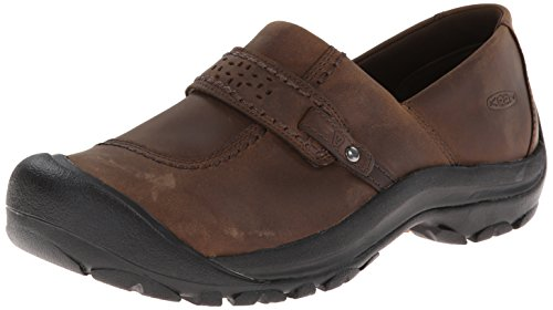 KEEN Women's Kaci Full Grain Slip On Casual Shoe, Cascade Brown, 8.5 M US (Women Shoes Brown compare prices)