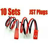 10 pairs JST Plug Connector RC Lipo Battery Male/Female
