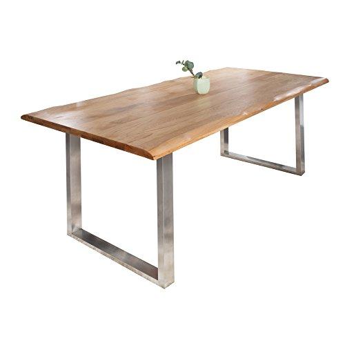 Massiver-Baumstamm-Tisch-GENESIS-180-cm-Eiche-Massivholz-Baumkante-Esstisch-mit-Kufengestell-aus-Edelstahl