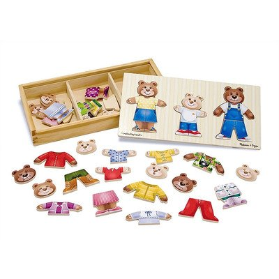 Melissa & Doug Bear Dress Up Wooden Puzzle