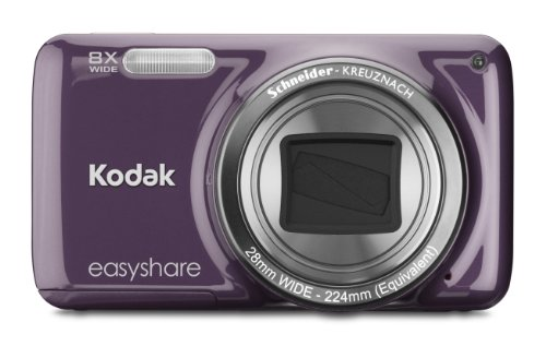 Kodak EasyShare M583 14 MP Digital Camera with 8x Optical Zoom and 3-Inch LCD - Purple