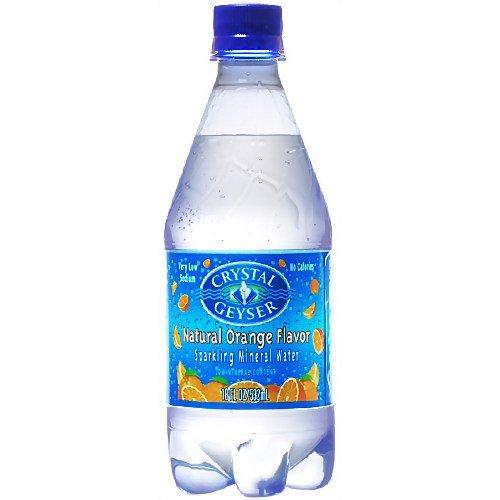 Geyser[クリスタルガイザー] スパークリングオレンジ 炭酸水[無果汁] 532ml×24本入り [並行輸入品]