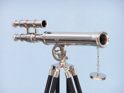 "Floor Standing Chrome Griffith Asto Telescope 45"" - Functional Chrome Telescope"