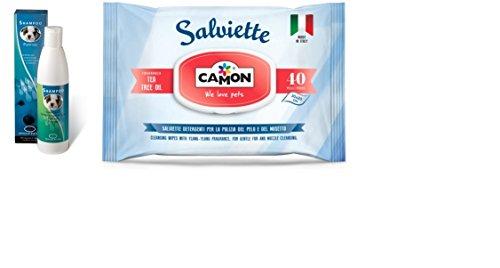 Shampoo igenizzante ingenya & Camon salviette al tea tree oil per cani