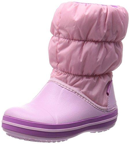Crocs Winterpuff, Stivali bambini, Rosa (Ballerina Pink/Wild Orchid), 32/33 EU