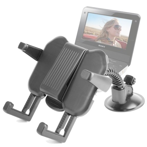 Duragadget Portable Dvd Player Cradle And Suction Support For Sony Dvp-Fx970, Dvp-Fx720, Dvp-Fx875, Dvp-Fx780, Dvp-3900Wb, Dvpfx780 7-Inch Screen & Dvp-Fx750 7-Inch Portable Dvd Player