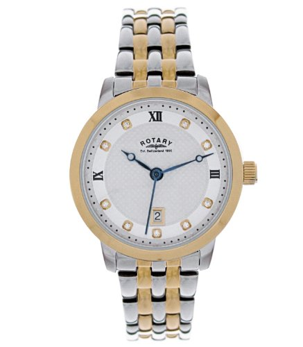 Rotary Ladies Round Two-Tone Bracelet Watch LB42826/41