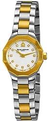 Baume   Mercier Womens A8718 Riviera Two Tone Watch