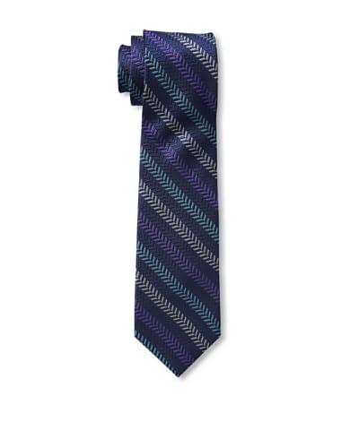 Ben Sherman Men's Textured Stripe Tie, Purple