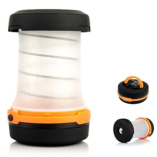PONCOTAN アウトドア 懐中電灯 ポップアップ 2WAY LED ランタン [ 連続点灯時間 60h ] (オレンジ)