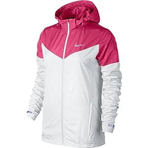 NIKE Vapor Ladies Running Jacket, White/Pink, S