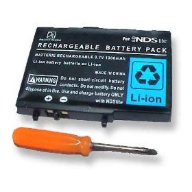 Nintendo DS-LITE Replacement Battery - Double Capacity 1600mAh