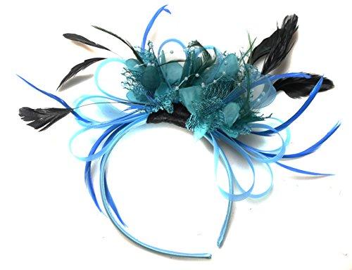 aqua-turchese-e-foglia-net-hoop-fascia-per-capelli-con-piume-matrimonio-royal-ascot-races