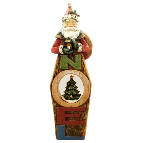 "Santa Claus ""Noel"" Christmas Tree Led Light Figurines - Lights Up!"