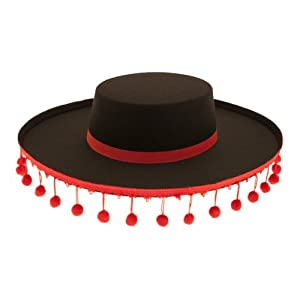 Red Bobble Spanish Matador Hat: Amazon.co.uk: Toys & Games