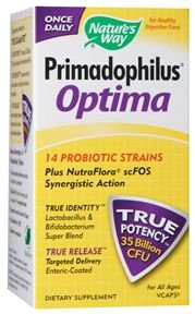 Primadophilus Optima - REFRIGERATED ships w/cold pack 30 VegCaps Natures Way