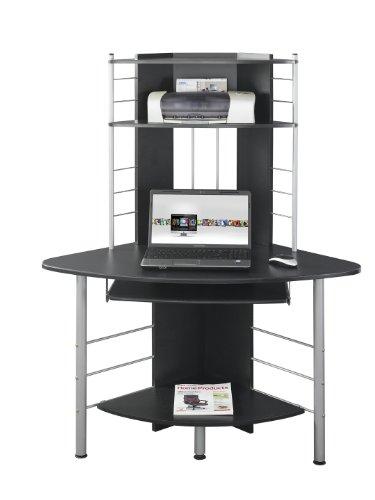 SixBros. Office - Scrivania ufficio porta pc angolare - nero - B-1010/60 - MDF granito nero