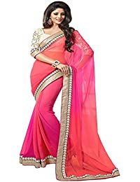 Saree For Women (M241-Pink_Padding)
