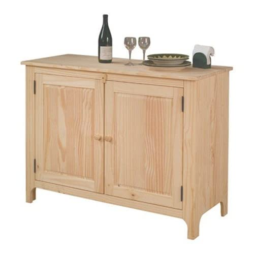 Solid Wood Unfinished Kitchen Buffet Sideboard Cabinet Sto