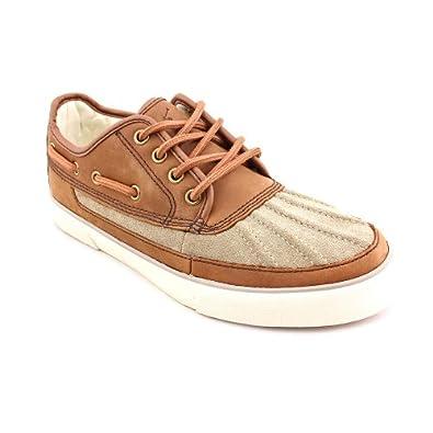 Ralph Lauren Men's Parkstone Low Sneaker,Dark Buck/Brown,8 D US: Shoes