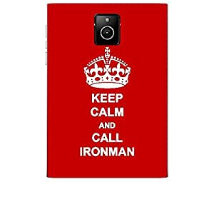 Skin4gadgets Keep Calm and CALL IRONMAN - Colour - Red Phone Skin for BLACKBERRY PASSPORT