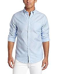 Lee Uniforms Men\'s Long Sleeve Oxford Shirt, Light Blue, Large