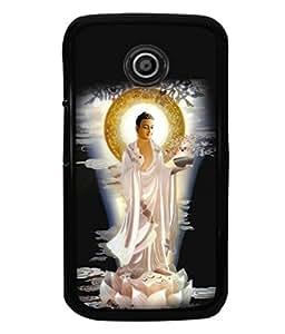 printtech Buddha God Back Case Cover for Motorola Moto E2::Motorola Moto E (2nd Gen)