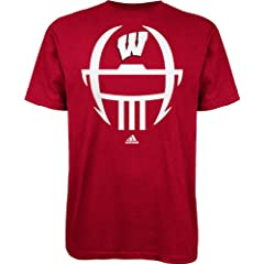 Buy adidas Wisconsin Badgers Football Helmet #Badgers T-Shirt - Red by adidas