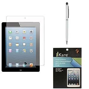 iKare Ultra Clear Anti-Glare Anti-Scratch Anti-Fingerprint Screen Protector for iBall Slide 1026-Q18 + Pen Stylus