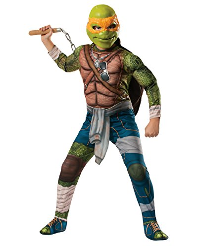 Kids Deluxe Teenage Mutant Ninja Turtles Michelangelo Costume Bundle
