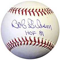 Bob Gibson autographed Baseball inscribed HOF 81