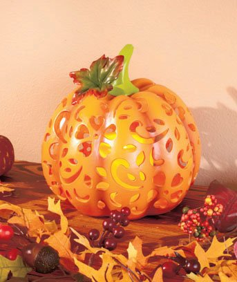 Led Candle Lighted Pumpkin