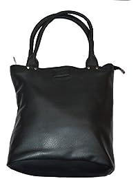 Knott Fashionable Multipurpose Black Hand Bag For Women