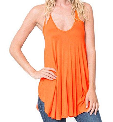 bling-bling-dress-womens-orange-racerback-flowy-cami-tank-top-m