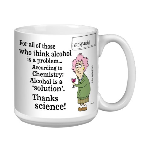 Tree-Free Greetings Xm27891 Aunty Acid Artful Jumbo Mug, 20-Ounce, The Solution