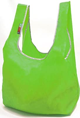 EcoJeannie Super Strong Ripstop Nylon Foldable Reusable Bag Grocery Shopping Tote Bag with Built-in Pouch