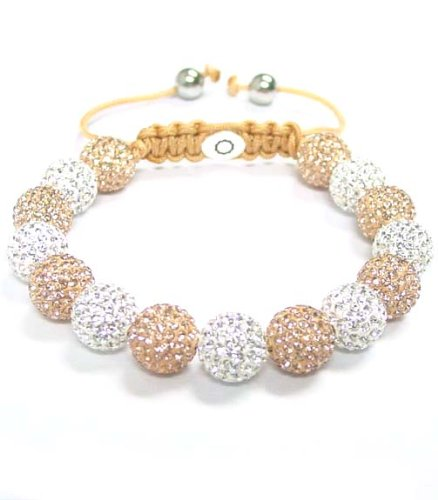 Scorva womens shamballa style starry bracelet