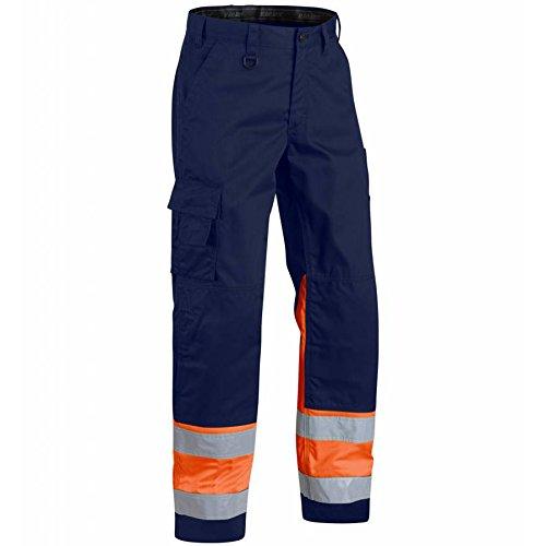 blaklader-156418118953d88-size-d88-cl1-high-vis-trousers-marine-blue-orange