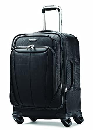 Samsonite Luggage Silhouette Sphere Expandable 21 Inch Spinner, Black, One Size