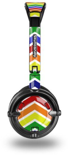 Skullcandy Lowrider Headphone Skin - Zig Zag Rainbow - (Headphones Not Included)